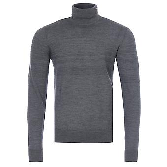 Emporio Armani Virgin Wool Roll Neck Sweater - Grey