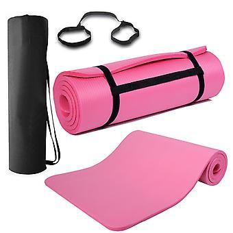 15mm سميكة غير زلة صالة الألعاب الرياضية ممارسة معدات اللياقة البدنية بيلاتس اليوغا حصيرة & الناقل