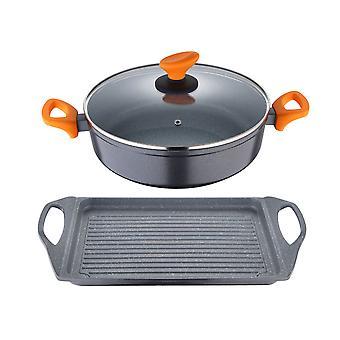 Set of pans San Ignacio Cookware Lava Aluminium (2 pcs)