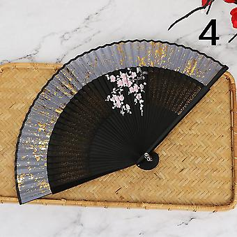 Hand-made Chinese Style Portable Hanfu Spray-painted Bamboo Fan Dance Fan