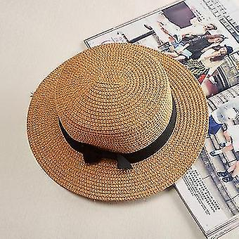 Womens panamá summer beach hat (56-58cm)(Cáqui 1)