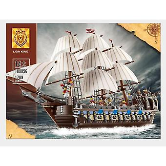 Compatible With 18056 Pirates Of The Caribbean Empire Battleship Puzzle Children's Assembling Building Block Toy 22001
