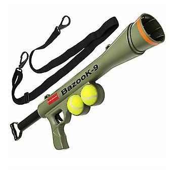 Dog Tennis Gun Launcher With 2 Squeaky Balls Pet Play/get/throw