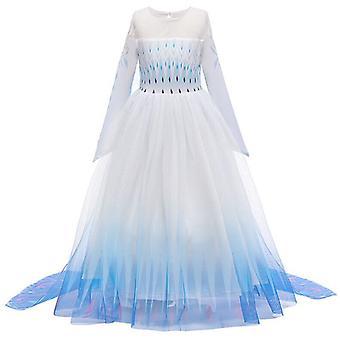 Kids Girl Frozen 2 Rainha Elsa Princesa Cosplay Fantasia Festa Fantasia Vestido