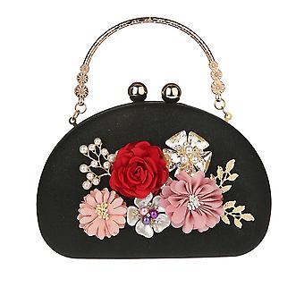 Flower Wedding Floral Evening Clutch Handbag