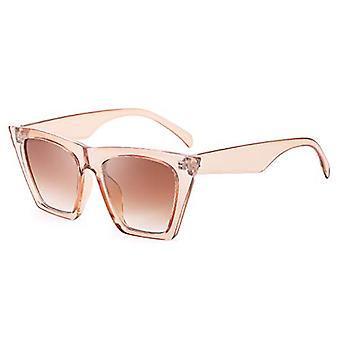 Vintage Square Cat Eye Gafas de sol Mujer Gafas de sol Cateye B2473 (rosa)