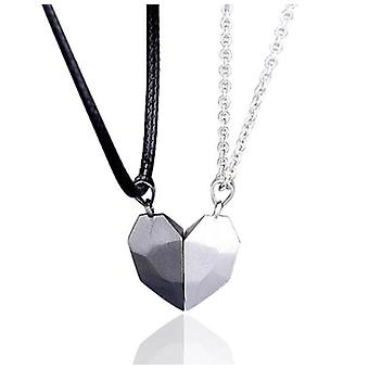 Two Souls One Heart Pendant Magnet Necklaces For Couple