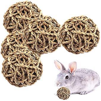 Pieni eläinpallo lelu, kani toiminta lelu eläin pureskella leluja ruoho pallo