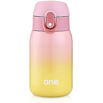 Kids Water Bottle, Double Wall Vacuum Insulated Stainless Steel Bottle For 24 Hrs Cooling & 12 Hrs Keep Warm