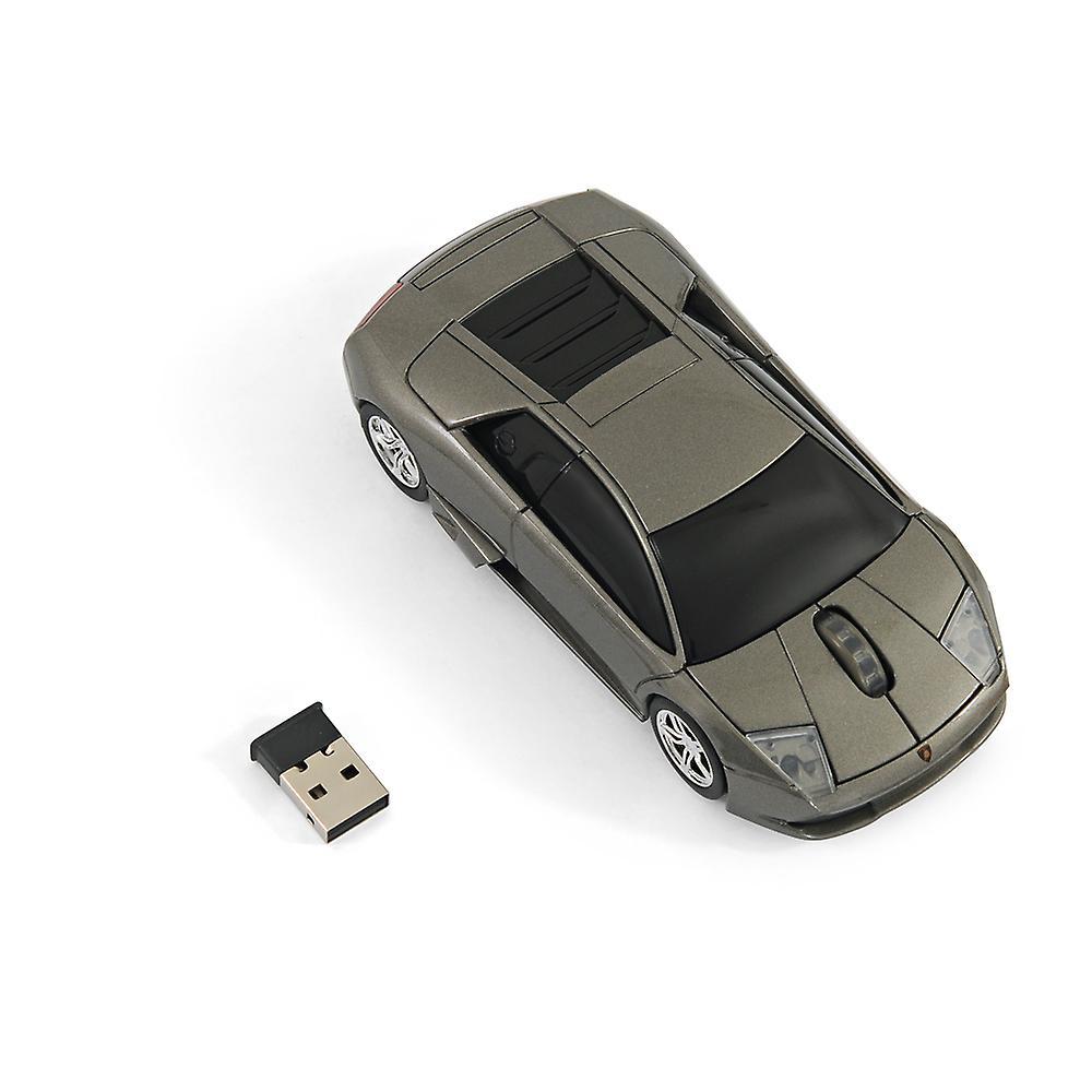 Official Lamborghini Murcielago Car Wireless Computer Mouse - Grey