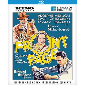 Front Page [BLU-RAY] USA import