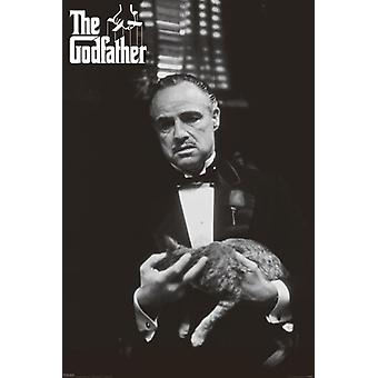 The Godfather - Cat B&W Poster Poster Print