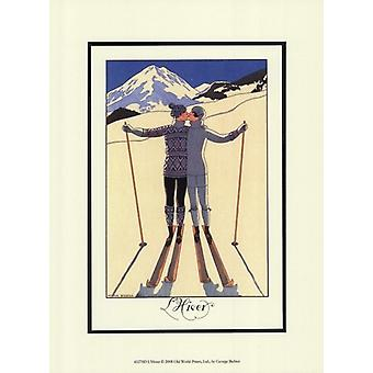LHiver Poster Print by Georges Barbier (10 x 13)