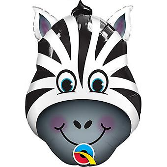 Qualatex Zebra Shaped Foil Balloon