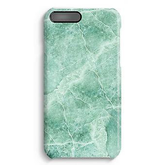 iPhone 7 Plus pełna obudowa głowiczki (błyszcząca) - zielony marmur