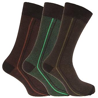 Angelo Cavalli Mens Abstract Patterned Elastic Top Socks (3 Pairs)