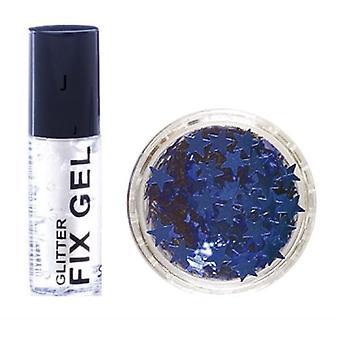 Stargazer fix gel lipici + Blue Glitter stele