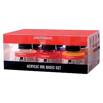 Amsterdam Acrylic Ink Basic Set 6 x 30ml
