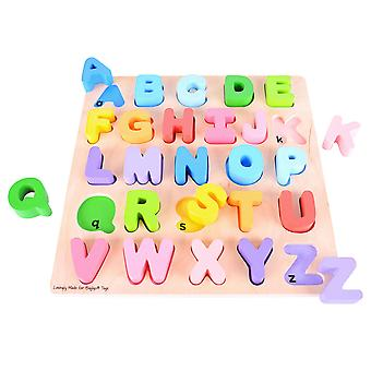 Bigjigs Toys Chunky Wooden Alphabet Puzzle Educational Letters Jigsaw Learn
