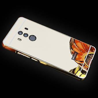 Miroir / miroir en aluminium pare-chocs 2 pièces d'or de couverture pour Huawei Mate 10 par carton