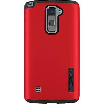 5 Pack -Incipio DualPro Shock-absorbing Case for LG Stylo 2 V - Iridescent Red/Black