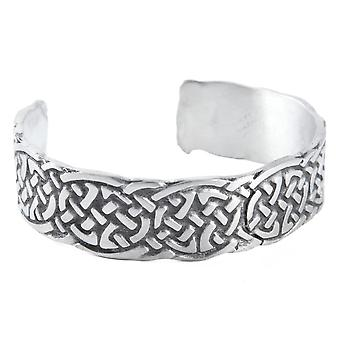 Celtic Trinity Knot Interlaced Pewter Bangle