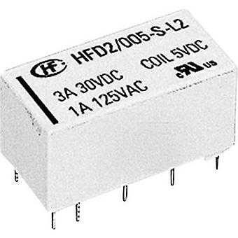 Hongfa HFD2/024-S-D PCB relay 24 V DC 3 A 2 change-overs 1 pc(s)