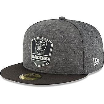 New era 59Fifty Cap - Black sideline Oakland Raiders