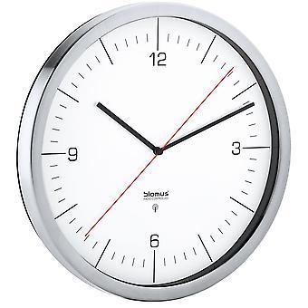 Radio Clock vægur radio ur lavet af rustfrit stål mat med klart glas