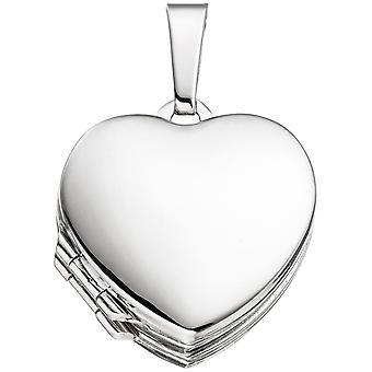 Medaillon Herz für 4 Fotos 925 Sterling Silber Anhänger zum Öffnen