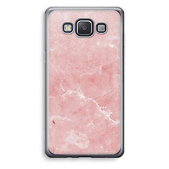 Samsung Galaxy A3 (2015) gjennomsiktig sak (myk) - rosa marmor
