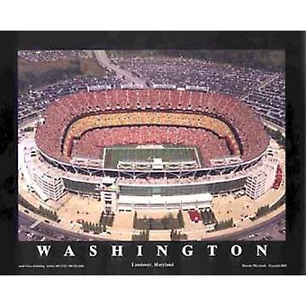 FedEx Field - Landover Maryland (Washin plakat Print af Mike Smith (28 x 22)