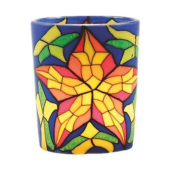 Kerzenfarm votief gloeiende glas, gekleurd glas