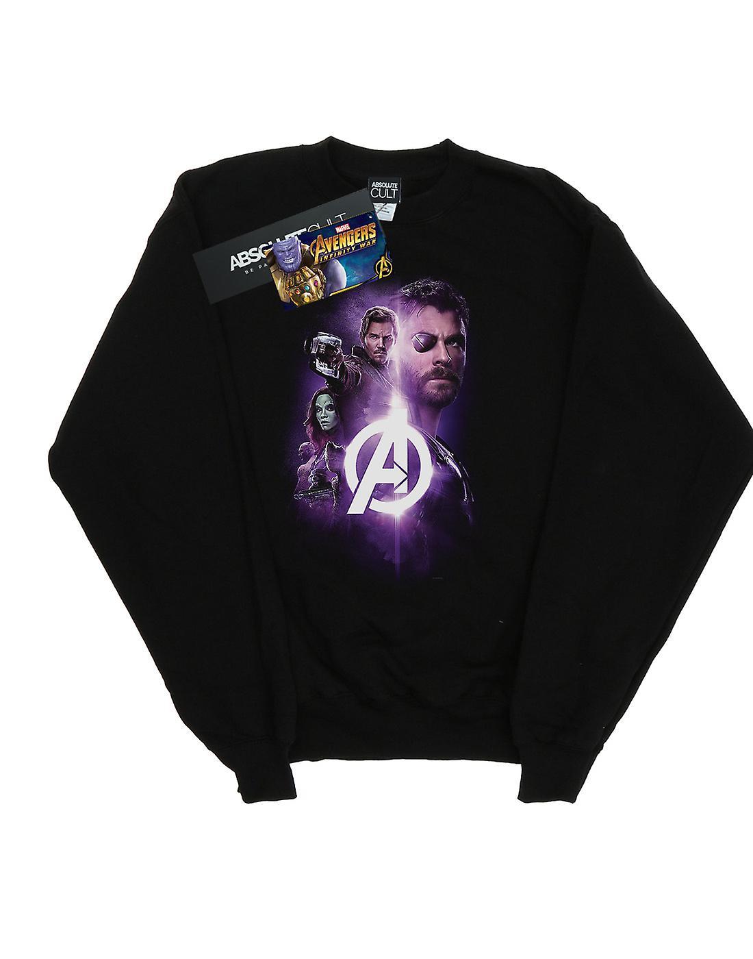 Marvel Women's Avengers Infinity War Thor Guardians Team Up Sweatshirt