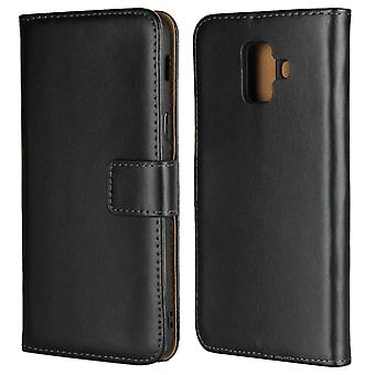 Samsung Galaxy A6 plus (2018) taske med tegnebog-sort