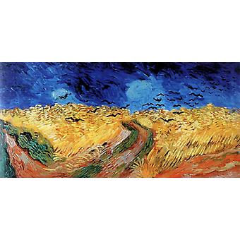 Wheat field with Crows, Vincent Van Gogh, 80x40cm