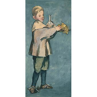 Enfant portant un plateau, Edouard Manet, 21x 11.4 cm