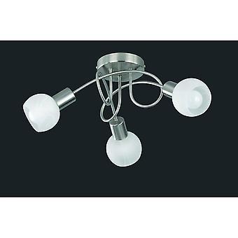 Trio Lighting Antibes Modern Nickel Matt Metal Ceiling Lamp