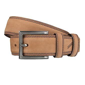 DANIEL HECHTER belts men's belts leather belt Cognac 4053