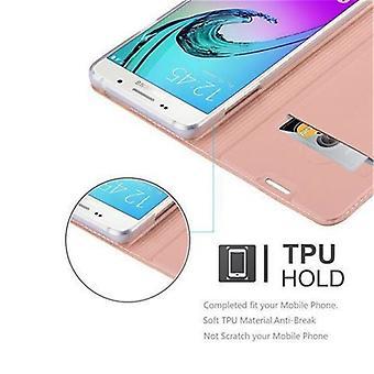 Cas Cadorabo pour Samsung Galaxy A5 2016 case cover - étui téléphonique avec fermoir magnétique, fonction de stand et compartiment de carte - Cas de couverture de cas de couverture de cas Book Folding Style