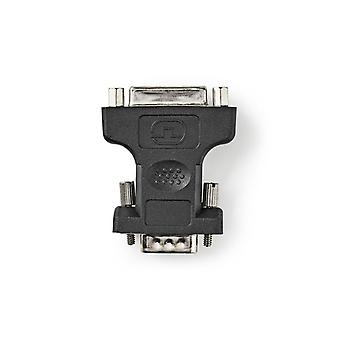 Nedis CCGP32901BK Vga - Dvi-adapter Vga Male - Dvi-i 24+5-pins Female Zwart