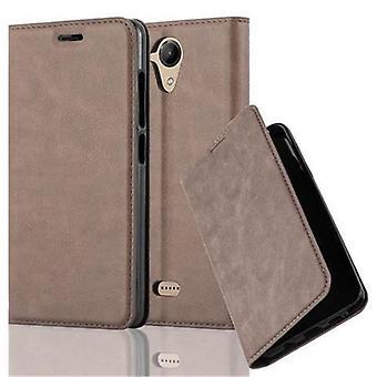 WIKO U FEEL LITE折りたたみ式電話ケース用ケース - カバー - スタンド機能とカードコンパートメント付き