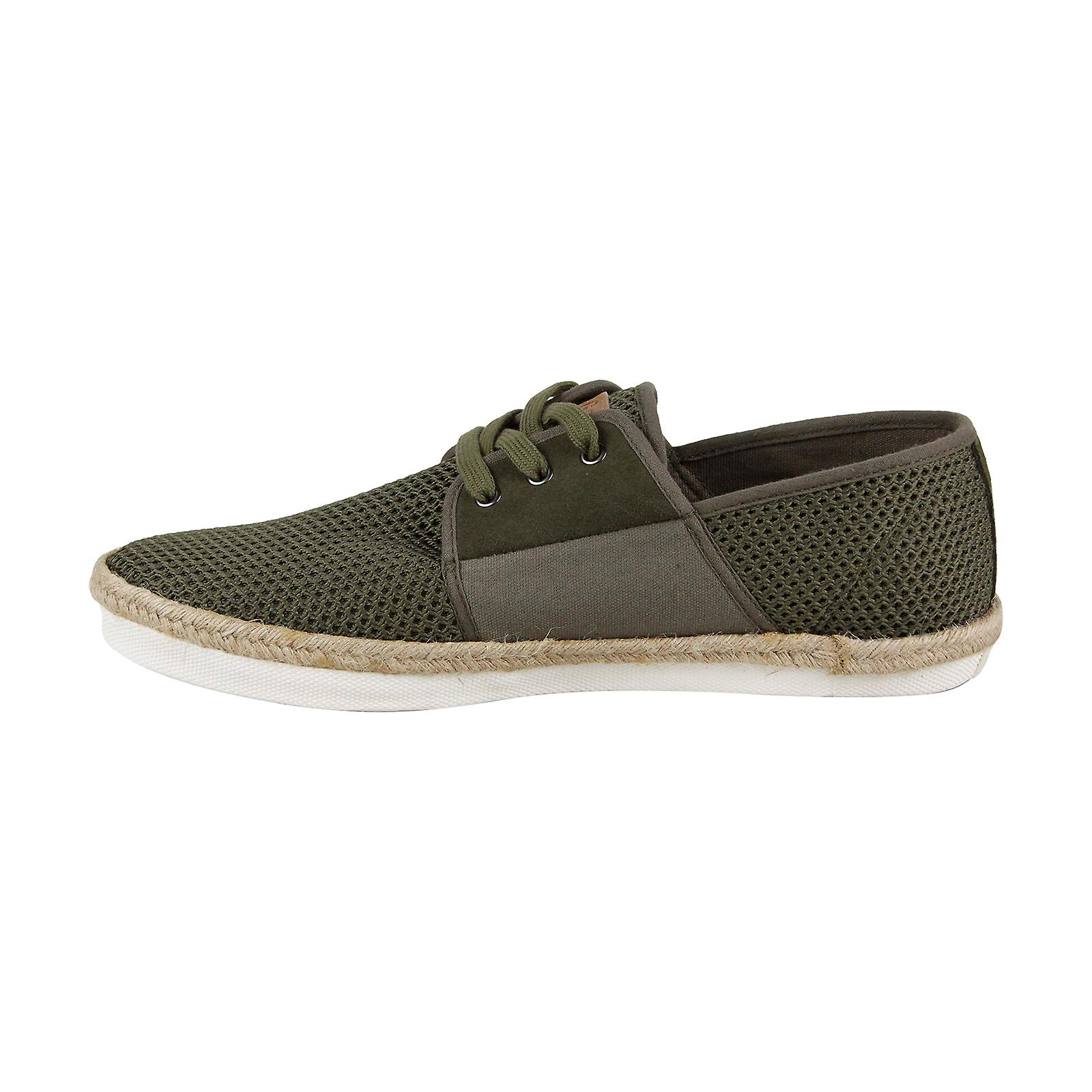 Chaussures Gola Slipway Mens Green Retro Lace Up Low Top Sneakers