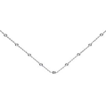 Bella Multi D Cut Bead Trace Necklace - Silver