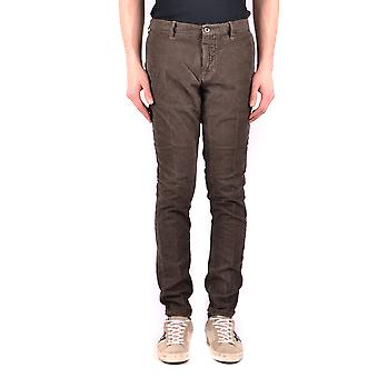 Incotex Ezbc093025 Men's Brown Cotton Pants