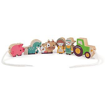 Janod Stringable Farm-Themed Beads