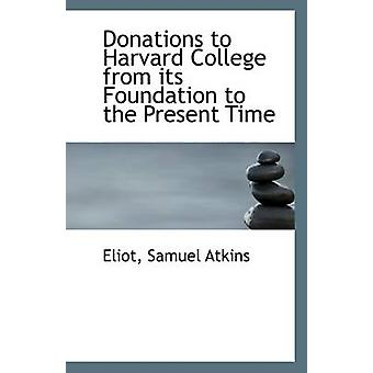 Donations to Harvard College from Its Foundation to the Present Time