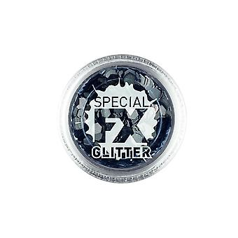 Confetti glitter preto 2G solta, Facepaint/maquiagem