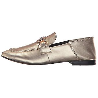 Steven by Steve Madden Womens Santana Leather Almond Toe Loafers