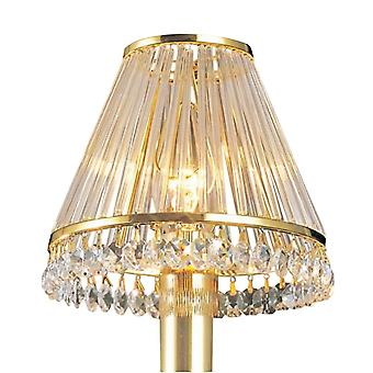 Diyas Crystal Clip-On Shade With Clear Glass Rods French Gold & Crystal